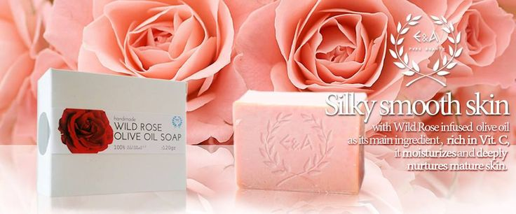 Wild rose infused olive oil soap, rich in vitamin C, nurturs and moisturises your skin