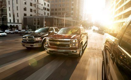 2014 Chevrolet Silverado 1500 LTZ Z71 vs. 2013 Ford F-150 Lariat, 2013 Ram 1500 Laramie Longhorn – Comparison Test – Car and Driver