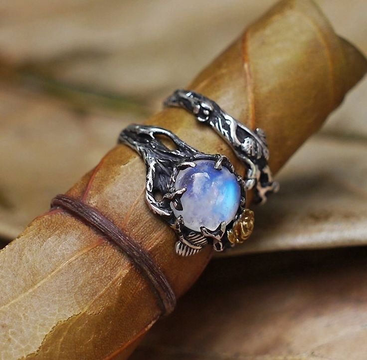 A moonstone ring designed to resemble Merlin's talisman, meaning this is a pretty powerful piece of jewelry.* | 28 Unique Engagement Rings That'll Make You Swoon