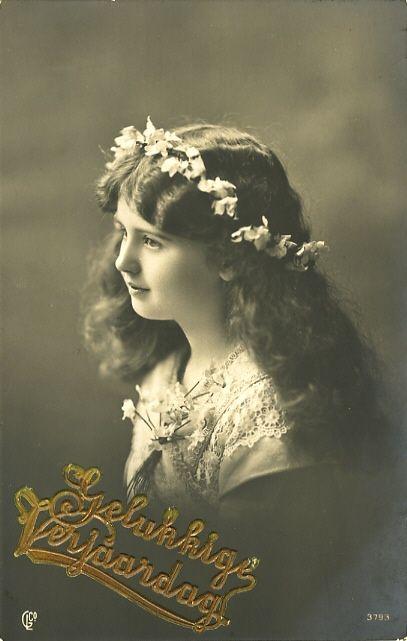 Happy Birthday DUTCH Gelukkige Verjaardag Vintage Postcard ~ PHOTOGRAPHY