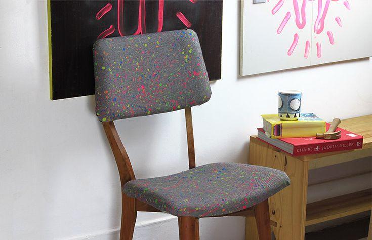 Veja como reformar/estofar uma cadeira antiga e ainda criar uma estampa original!