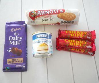 4 Ingredient No Bake Cherry Ripe Slice - Create Bake Make