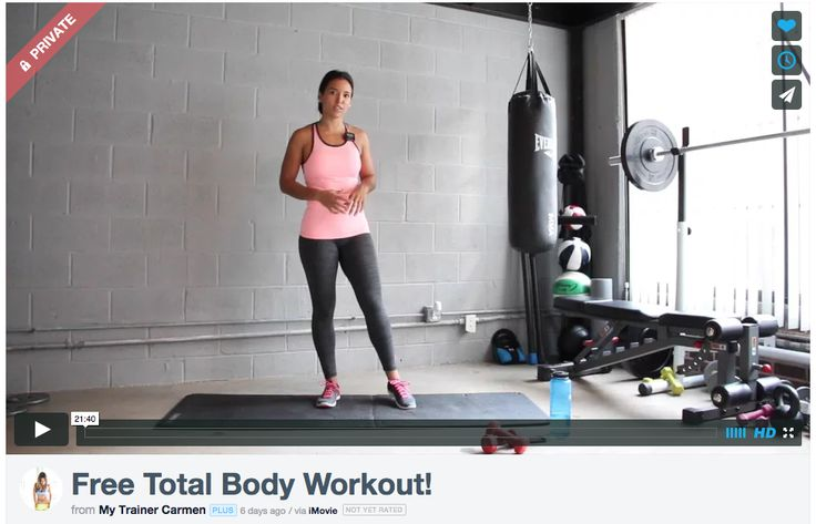 My Trainer Carmen - Free Total Body Workout!