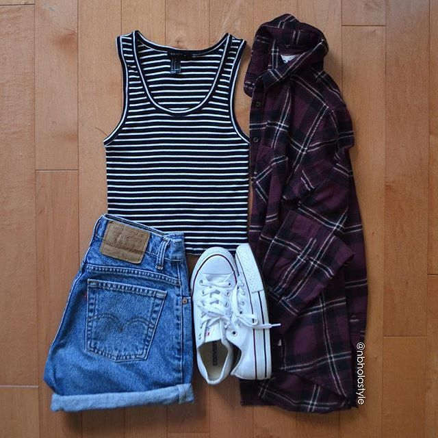 I like the B&W stripes with the plaid.