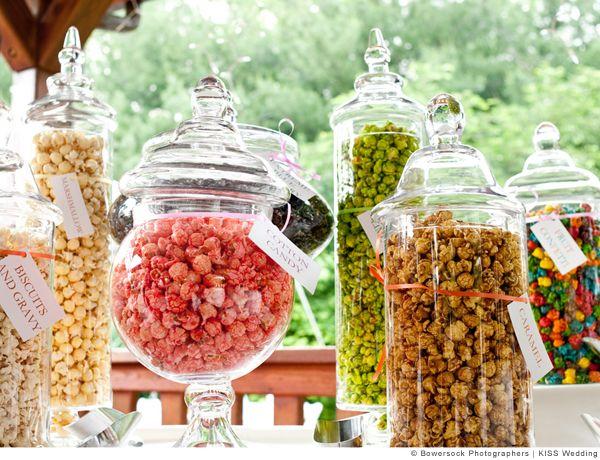 Instead of candy popcorn mmmmm wedding pinterest for Cheap wedding theme ideas