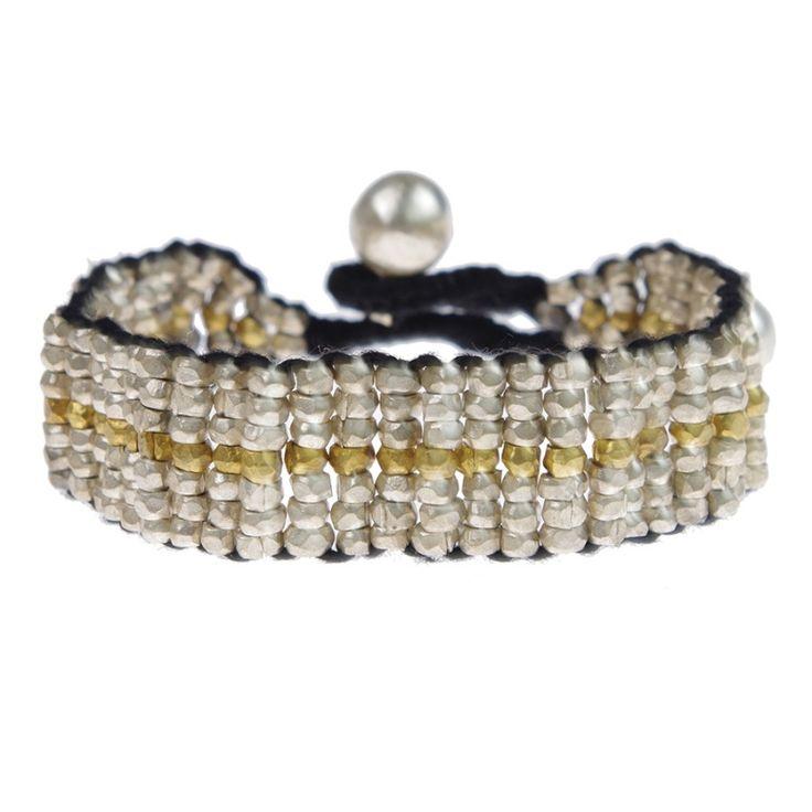 A Beautiful Story sieraden | Studio Art Styles  | Armband | Azra Silver bracelet | handcut beads in a beautiful setting