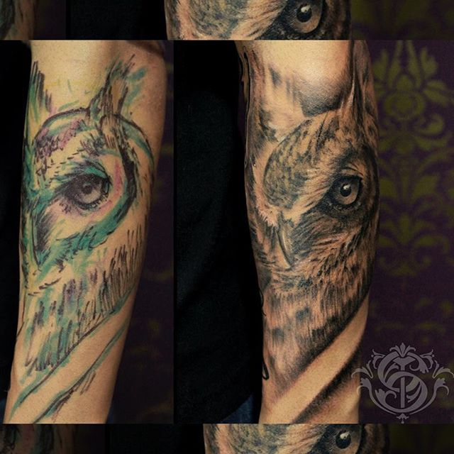#owl #owltattoo #bng #freehand #freehandtattoo #sacrotattoo #caromontoyatattoo #tattoo