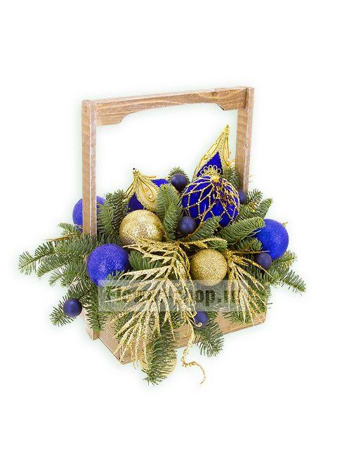 Новогодняя композиция «Синий бархат»