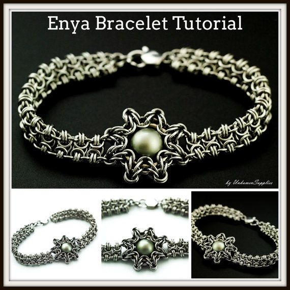 Enya Bracelet Tutorial Chainmaille Jewelry PDF by UnkamenSupplies