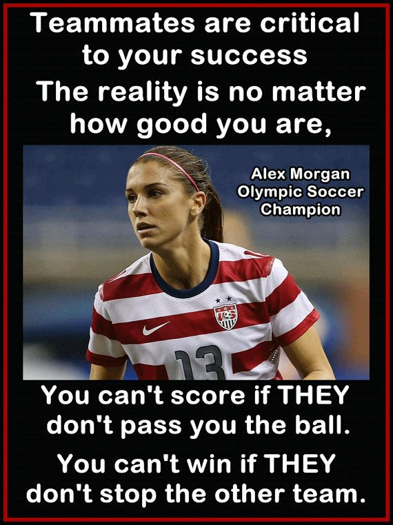 """Alex Morgan Soccer Photo Quote Wall Art Poster Print 8x11"""" Teammates You Can't Score If They Don't Pass You The Ball - Free USA Shipping on Etsy, $15.99"""