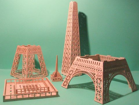 eiffel tower 3mm and lots of other. Black Bedroom Furniture Sets. Home Design Ideas