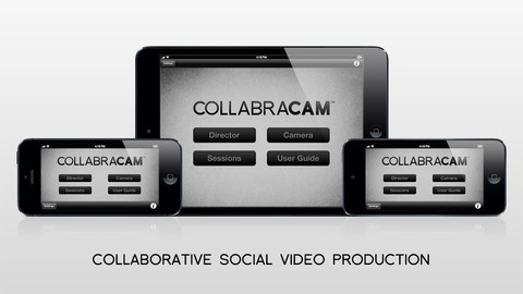 CollabraCam: A multi-user video creation and editing tool, Collabracam allows an iPad to act as the video producer, while up to four iPad/iPhone/iPod devices can shoot and stream video to the producer iPad.  The director iPad can provide direction to the devices shooting video on the fly.  Video can be edited on the fly or exported or editing.