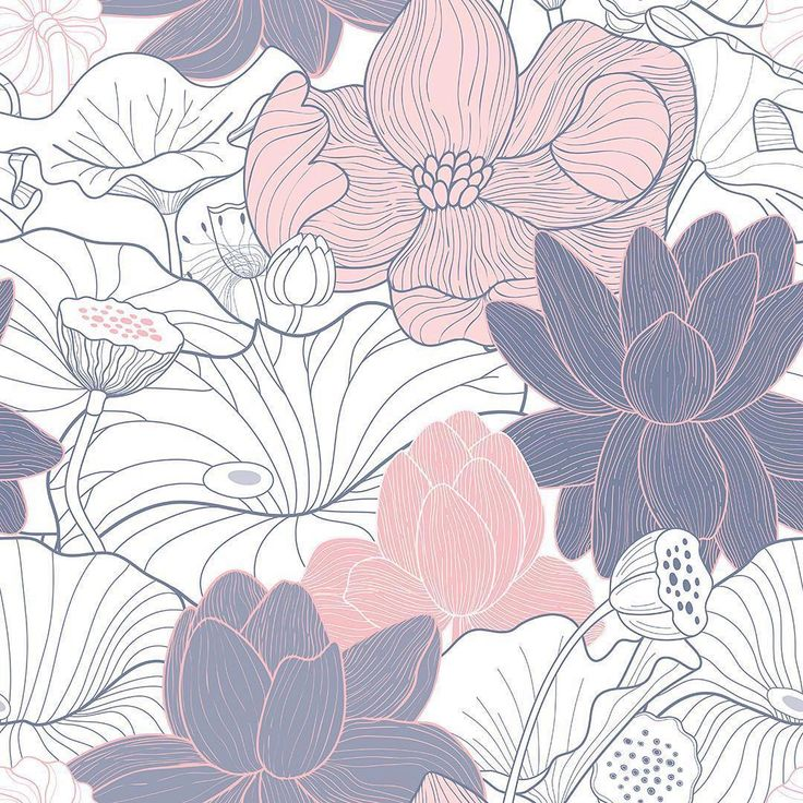 """""""Blossom Lotus"""" available now on Patternbank as a seamless repeat  #newonpat... iPhone X Wallpaper 218072806942261269 1"""