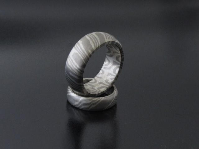 #Rings by #Bielak  #palladium / silver  #mokume #gane  #wedding rings from #Poland  unique design