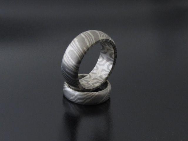 #Rings by #Bielak  #palladium / silver  #mokume #gane  #wedding rings from #Poland  unique design