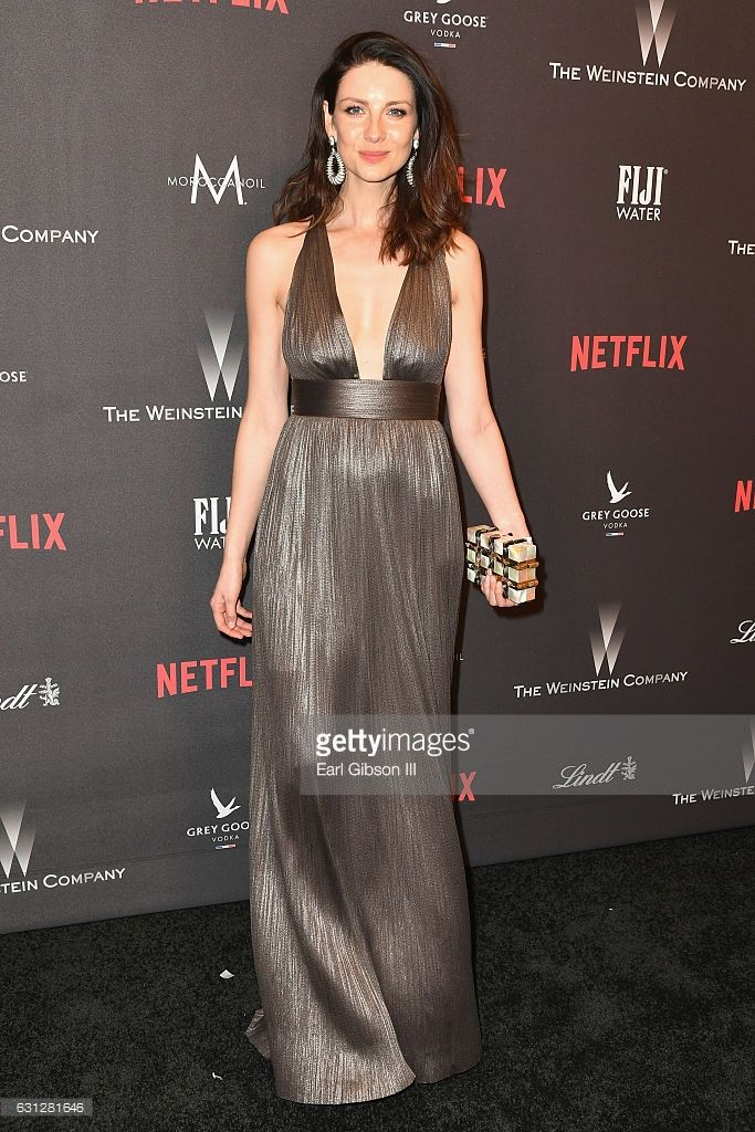 Actress Caitriona Balfe attends The Weinstein Company and Netflix Golden Globe Party, presented with FIJI Water, Grey Goose Vodka, Lindt Chocolate, and Moroccanoil at The Beverly Hilton Hotel on January 8, 2017 in Beverly Hills, California.  (Photo by Earl Gibson III/Getty Images)