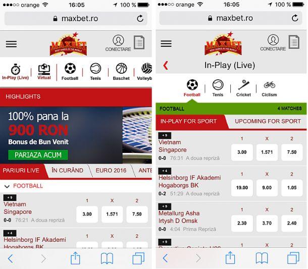Articole Pariuri sportive pe PariuriX.com: Maxbet pe telefonul mobil sau tabletă?