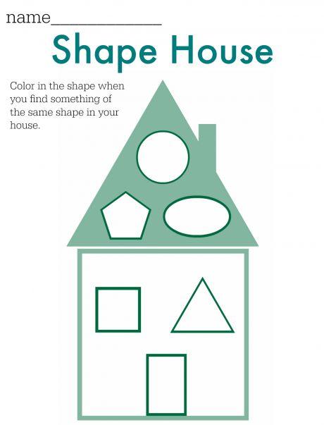 Shape House FREE Printable