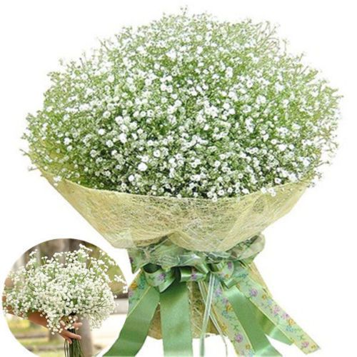 20PCS Artificial Baby's Breath Fake Silk Flower Home Wedding Garden Decor #Unbranded