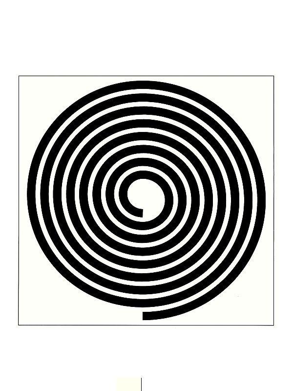 GRÁFICO ESPIRAL -  Potente gráfico emissor em espiral levógira, não altera polaridades, não interfere em emissões cromáticas, e pode ser utilizado para qualquer tipo de emissão à distância. Utilizada para mandar embora energias intrusas.