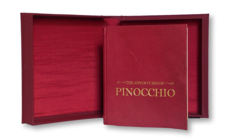 Customised deluxe leather binding of Pinocchio