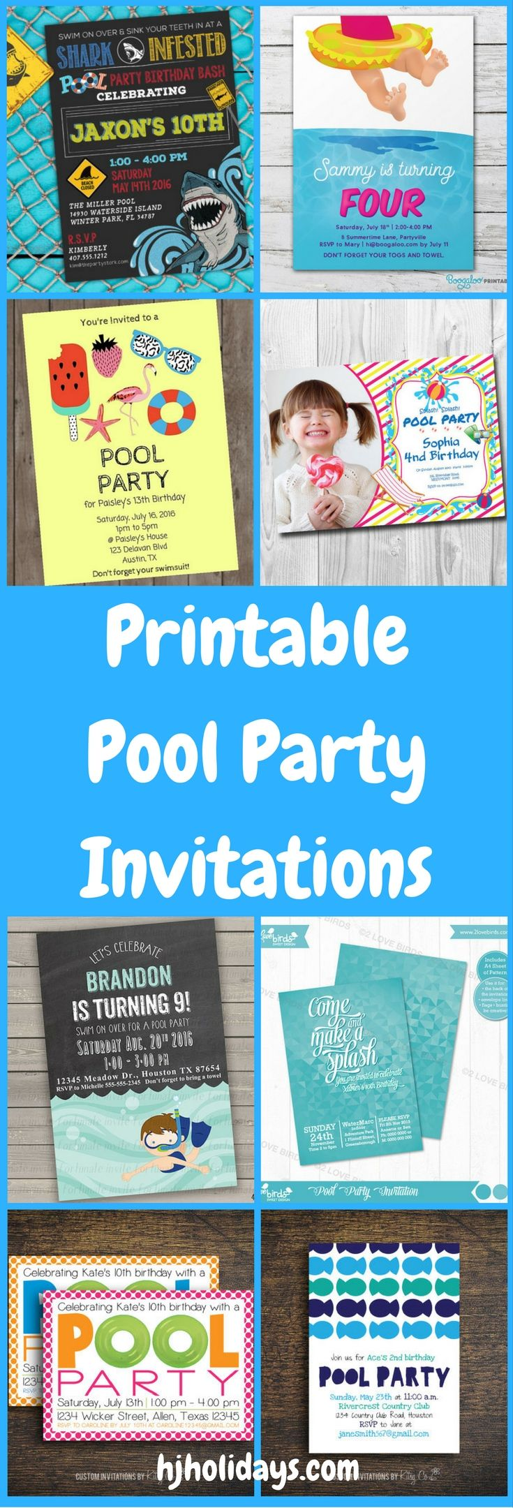 263 best Birthday Party Ideas images – Free Printable Party Invitations for Kids Birthday Parties