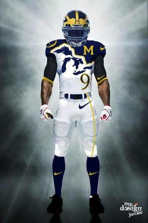 THE Michigan football team. uniform concept