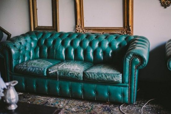 I want a chesterfield....funky old for our den and this color is fab!!