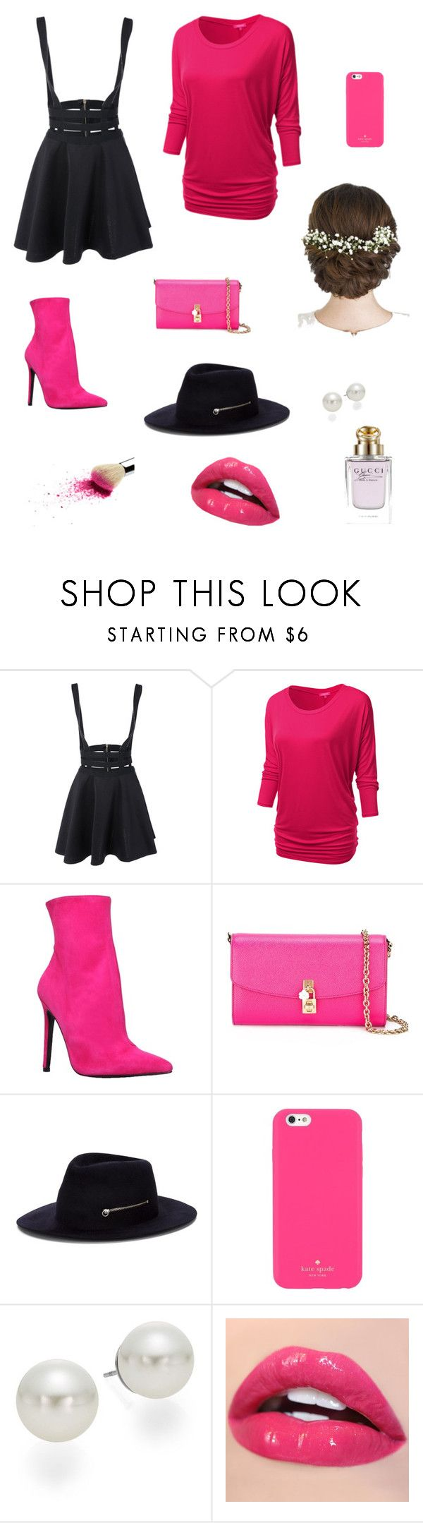 """""""Life"""" by raghad2007 ❤ liked on Polyvore featuring beauty, J.TOMSON, Carvela, Dolce&Gabbana, Larose, Kate Spade, AK Anne Klein and Gucci"""