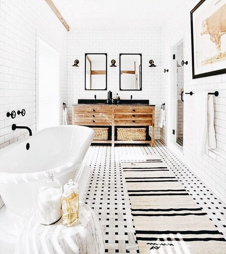 simple bathroom with delicate details