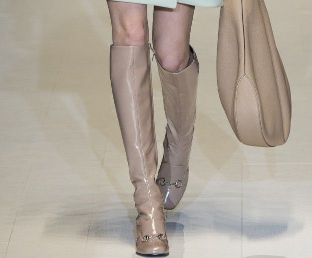Stivali beige Gucci