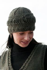 free #knitting pattern for download from Cascade Yarns - slatted band hat