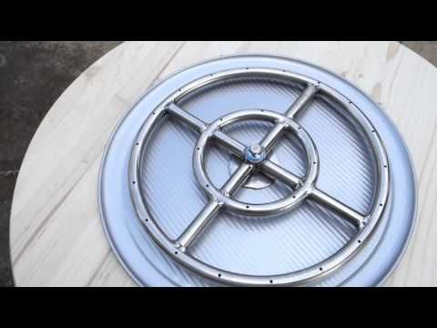 DIY: Make a propane fire pit from a flower pot - YouTube                                                                                                                                                     More