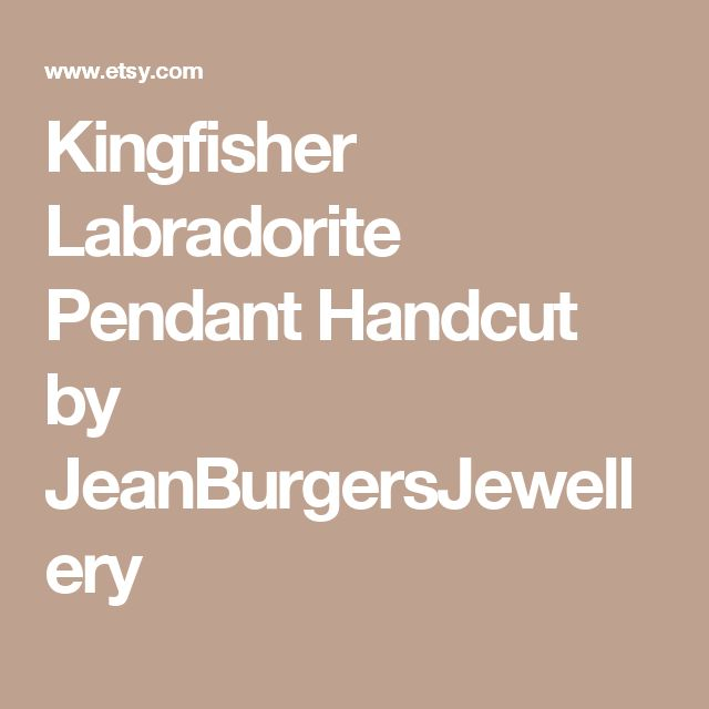 Kingfisher Labradorite Pendant  Handcut by JeanBurgersJewellery