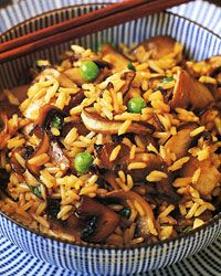 Mushroom Fried Rice  - Vegetarian Chinese Meals from Food & Wine