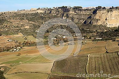 A view upon Ronda fields vith the city on the background taken in december 2015 around Christmas time. It's a MUST-VISIT place if you like to hike! Andalusia Spain