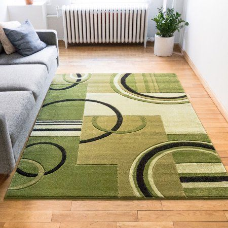 Well Woven Ruby Galaxy Waves Modern Geometric Green Area Rug Walmart Com In 2020 Area Rugs Green Area Rugs Area Rug Design