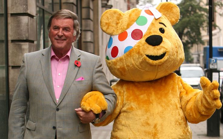 Terry Wogan and Pudsey Bear. Terry raised so much money for charity, bless him x