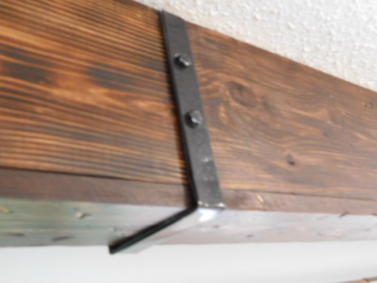 Diy Faux Wood Ceiling Beam Straps Brackets Carriage
