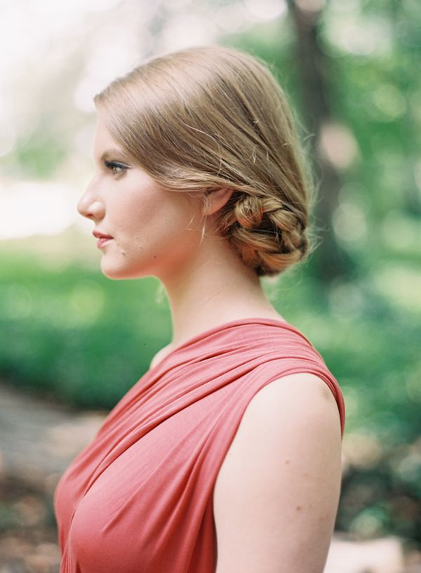diy tucked braided bun