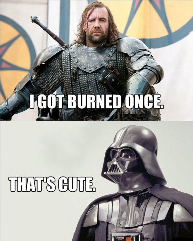Star Wars vs. Game of Throne crossed & circumcised with funny comparisons on Reddit... ; )
