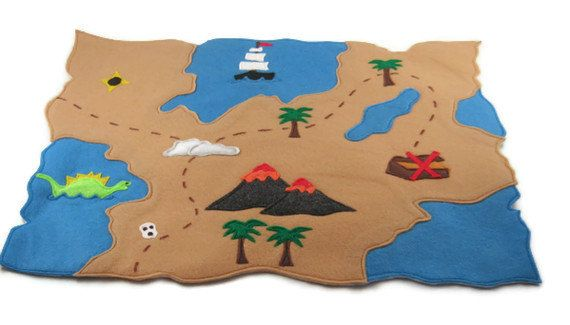 Pirate Map Perfect for Imaginative Pirate Play by missprettypretty, $29.00