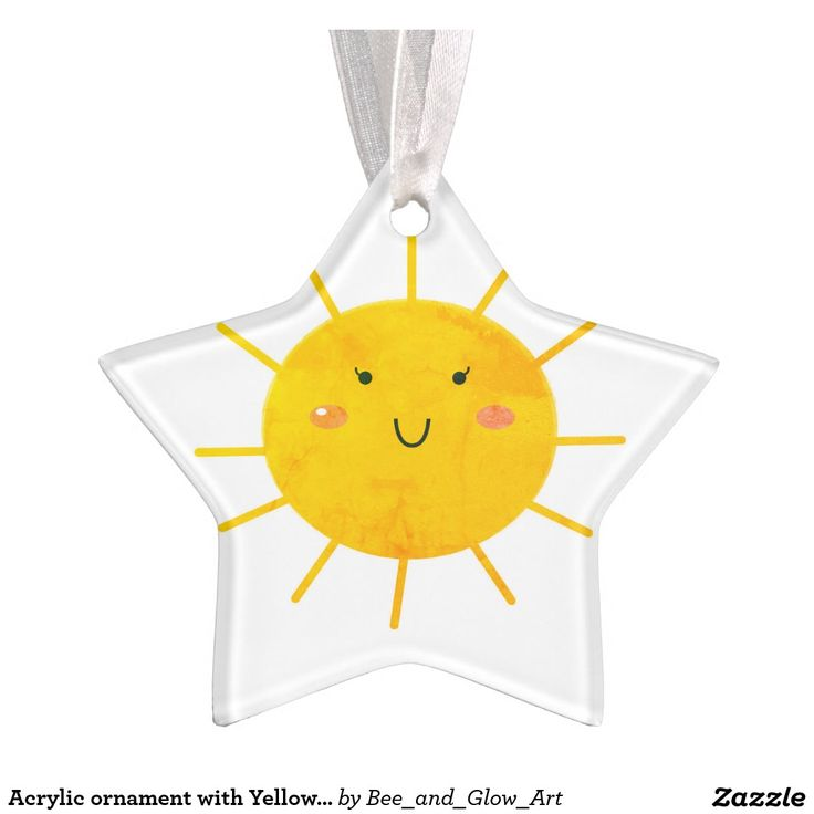 Acrylic ornament with Yellow Sun