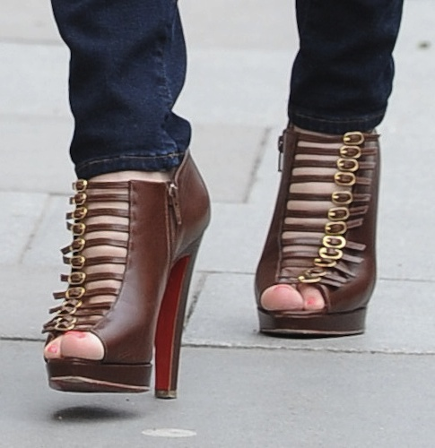 Kelly Brook in Christian Louboutin Booties — Hot or Not?
