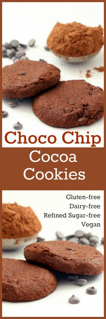 Nutritionicity | Recipe: Choco Chip Cocoa Cookies (Gluten-Free, Vegan, Refined Sugar-Free) A rich cocoa treat that is moist, delicious and, best of all still packed with nutritional love! A quick and easy prep. From start to lips in 20 minutes! Recipe at http://www.nutritionicity.com/recipes/recipe-choco-chip-cocoa-cookies-gluten-free-vegan-refined-sugar-free/
