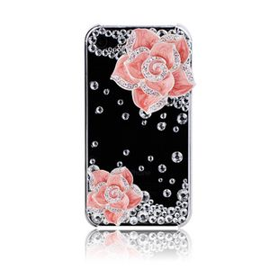 Camellia and crystals alloy diy bling phone deco kit k1   chriszcoolstuff - Craft Supplies on ArtFire