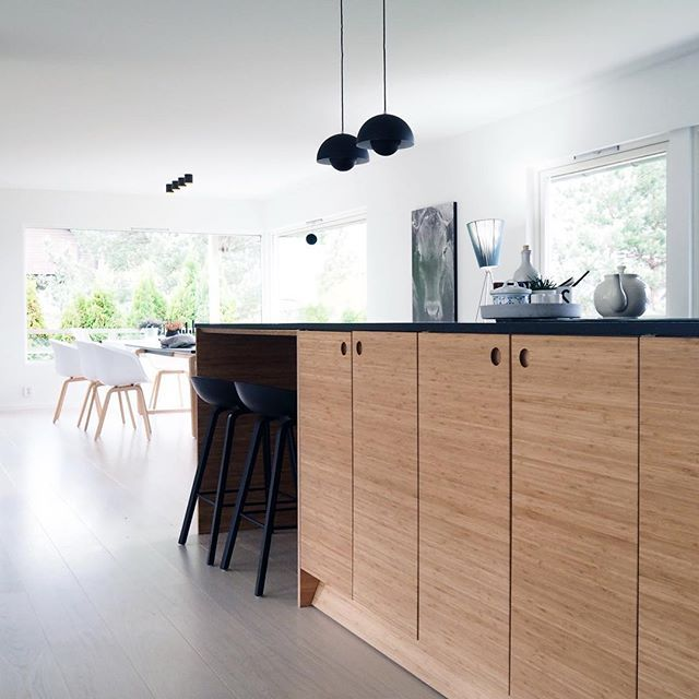 Thank you so much for the wonderful visit on Sunday @bythewayhello So much fun to see our bamboo kitchen doors in your beautiful home. #askogeng #bambooinspiration #ikeahack