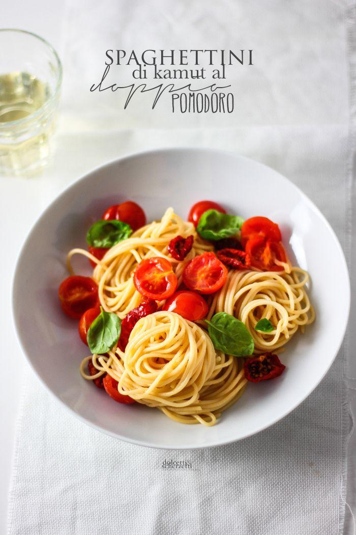 double tomato spaghetti - spaghettini di kamut al doppio pomodoro