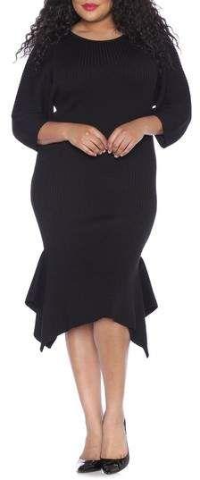 b613e157cd2 SLINK Jeans Handkerchief Hem Sweater Dress