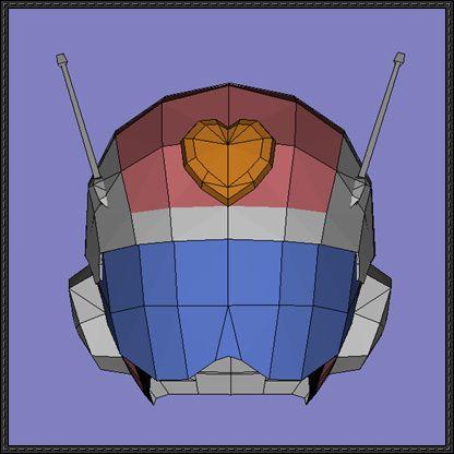 Dragon Ball Z - Great Saiyaman II Helmet Papercraft Free Download - http://www.papercraftsquare.com/dragon-ball-z-great-saiyaman-ii-helmet-papercraft-free-download.html